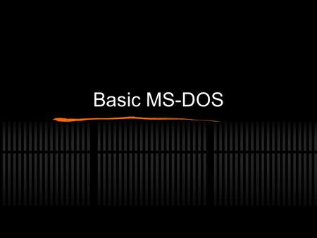 Basic MS-DOS. History MS-DOS 1.0 was released in August 1981, and was updated until April 1994 when it was replaced by Windows 95 All versions of windows.