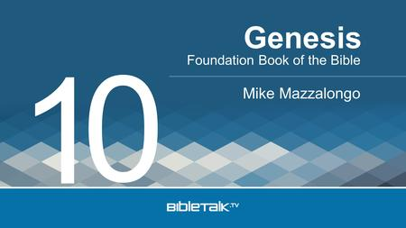 Genesis 1 Foundation Book of the Bible Mike Mazzalongo.
