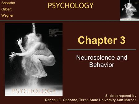 Chapter 3 Neuroscience and Behavior Slides prepared by Randall E. Osborne, Texas State University-San Marcos PSYCHOLOGY Schacter Gilbert Wegner.