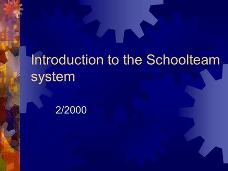 Introduction to the Schoolteam system 2/2000 Intranet  Differences between Internet and Intranet  Usually, when we want to visit web pages, we are.