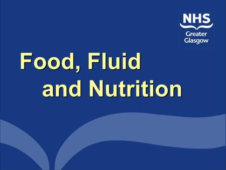 Food, Fluid and Nutrition. Q.I.S Q.I.S. Embraces several quality and patient focussed organisations in to one National standards of care are set for various.