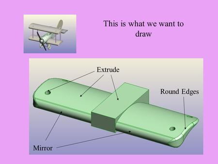 This is what we want to draw Extrude Mirror Round Edges.
