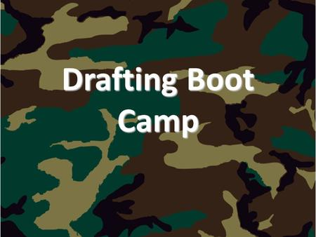 "Drafting Boot Camp. Why Study Drafting?  Drafting is a form of graphic communication  ""A picture is worth a thousand words."""