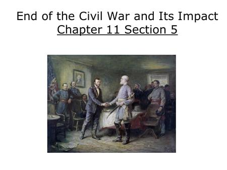the civil war and its effects
