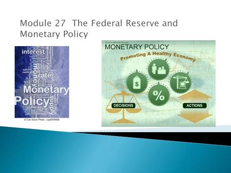Federal Reserve provides the following functions:  Provides financial services to banks and other financial institutions  Regulates banks  Maintains.