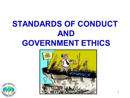 1 STANDARDS OF CONDUCT AND GOVERNMENT ETHICS. 2 INTRODUCTION Military Service is a Public Trust Department of Defense Joint Ethics Regulation.