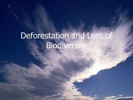 Deforestation and Loss of Biodiversity. Three General Types of Forests Tropical Temperate Polar.