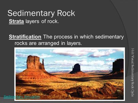 Sedimentary Rock Strata layers of rock.