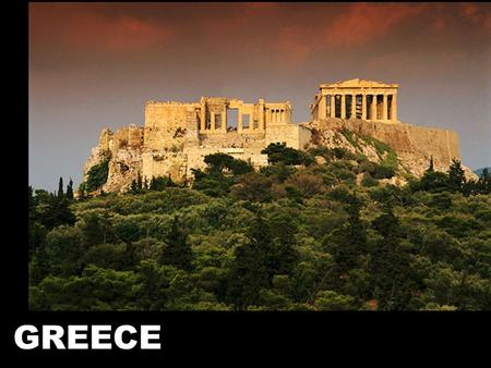 GREECE. GEOGRAPHY Mountainous - mountains separated different areas from one another. Promoted the formation of individual city-states.