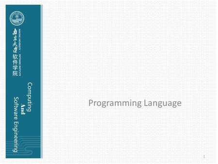 Programming Language 1. Programming language A programming language is a machine-readable artificial language designed to express computations that can.