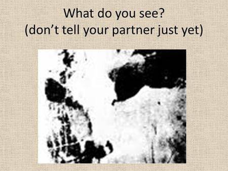 What do you see? (don't tell your partner just yet)