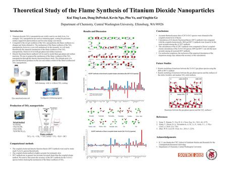 Theoretical Study of the Flame Synthesis of Titanium Dioxide Nanoparticles Kui Ting Lam, Doug DePrekel, Kevin Ngo, Phu Vo, and Yingbin Ge Department of.