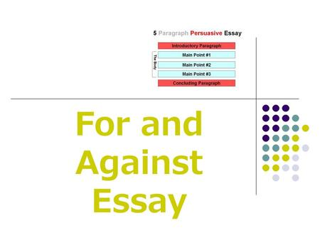 For and Against Essay.