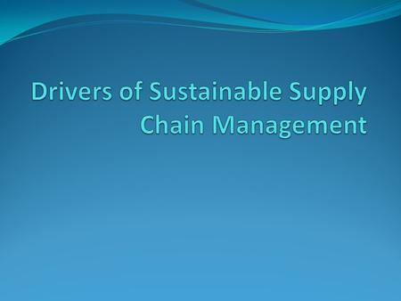 What is sustainable SCM? holistic perspective long-term profitability.