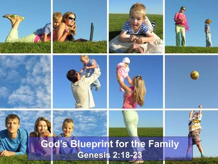 God's Blueprint for the Family Genesis 2:18-23. Introductory Notes In the history of mankind, God has ordained three institutions: The church, government,