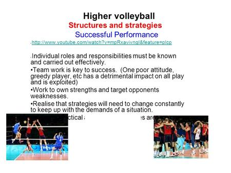 Structures and strategies Successful Performance  Individual roles and responsibilities must be.