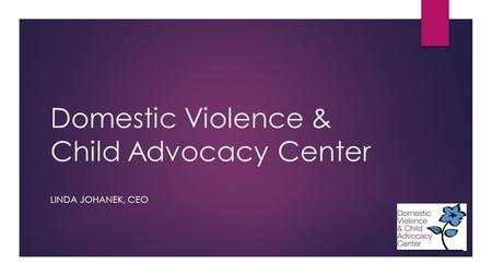 Domestic Violence & Child Advocacy Center LINDA JOHANEK, CEO.