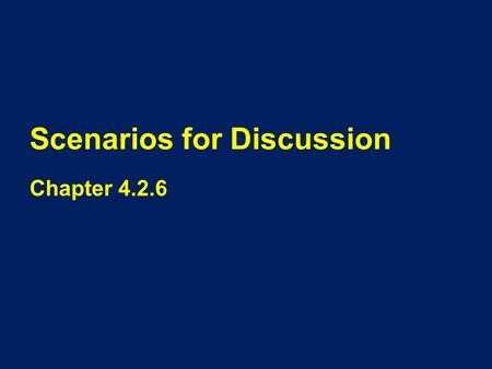 Scenarios for Discussion Chapter 4.2.6. Scenario One Mike is deaf-blind. Mary is his SSP. They work together once every two weeks and sometimes communicate.