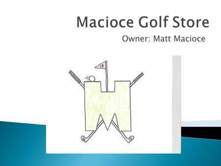 Macioce Golf Store Owner: Matt Macioce.
