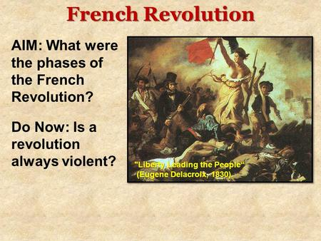 to what extent did the enlightenment cause the french revolution The enlightenment did not directly contribute to the outbreak of the french revolution, but the french revolution does embody some of the.