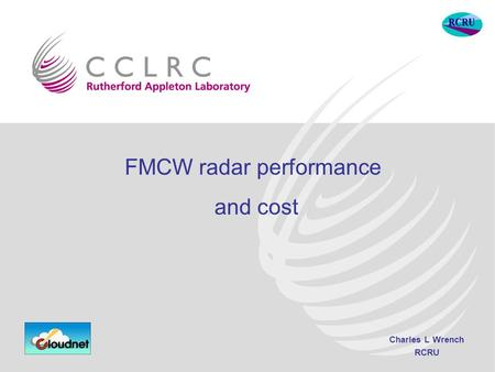 Charles L Wrench RCRU FMCW radar performance and cost.