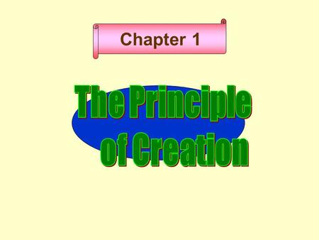 Chapter 1 God Humanity and universe Principle Causal Reality Result.