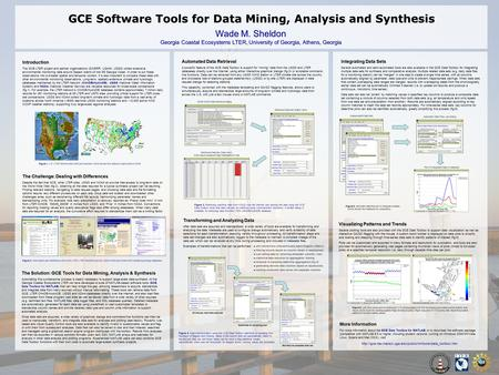 GCE Software Tools for Data Mining, Analysis and Synthesis Wade M. Sheldon Georgia Coastal Ecosystems LTER, University of Georgia, Athens, Georgia Introduction.