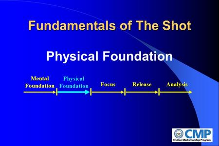 Fundamentals of The Shot Physical Foundation Physical Foundation Mental Foundation FocusReleaseAnalysis.