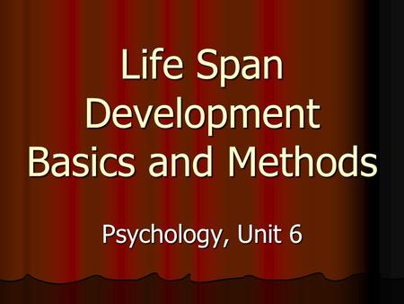 current issues in lifespan development Current issue in life-span development paper danielle watson university of phoenix dr terry portis psych500 june 28, 2010 from the time a person is born until the time a person passes away, they are changing constantly over the years most of the changes throughout life's various stages are because of the common biological and psychological [.