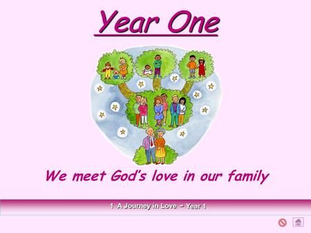 Year One We meet God's love in our family 1 A Journey in Love - Year 1.