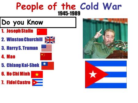 People of the Cold War Do you Know Joseph Stalin
