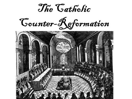 The Catholic Counter-Reformation. Lead Up and Background R.C.C. response to growing reform movement throughout central and western Europe R.C.C. really.