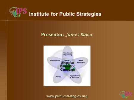 Presenter: James Baker Institute for Public Strategies www.publicstrategies.org.