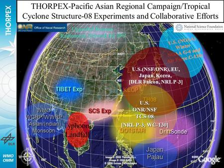 Upgraded Russian Radiosonde Network for IPY U.S. (NOAA) Winter NOAA G-4 and Air Force C-130s JapanPalau Typhoon Landfall U.S.(NSF/ONR), EU, Japan, Korea,