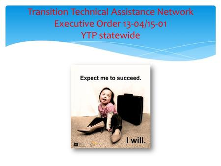 Transition Technical Assistance Network Executive Order 13-04/15-01 YTP statewide.