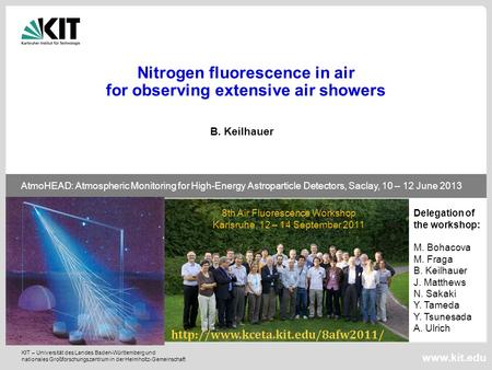Nitrogen fluorescence in air for observing extensive air showers