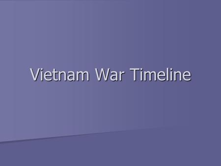Vietnam War Timeline. Vietnam 1950 U.S fights in Korea U.S fights in Korea Grants military aid to France to fight Ho Chi Minh in Vietnam Grants military.