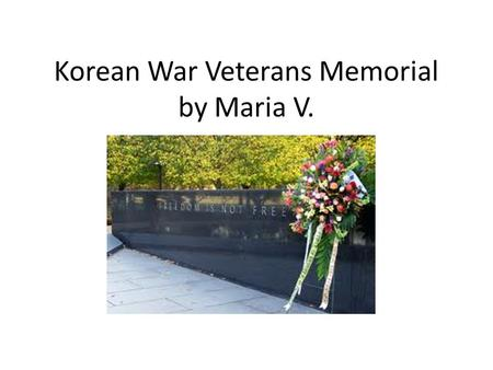 Korean War Veterans Memorial by Maria V.. Designed by Cooper-Lecky Architects. Each statue is over 7 feet tall.