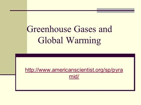 Greenhouse Gases and Global Warming  mid/