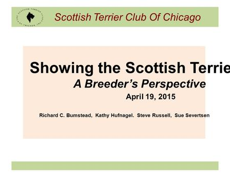 Scottish Terrier Club Of Chicago