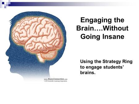 Engaging the Brain….Without Going Insane Using the Strategy Ring to engage students' brains.
