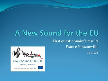 First questionnaire's results France Nouzonville France.