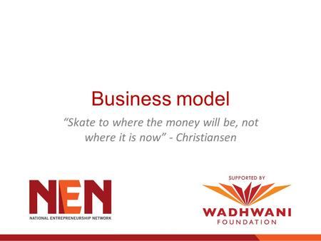 """Skate to where the money will be, not where it is now"" - Christiansen"
