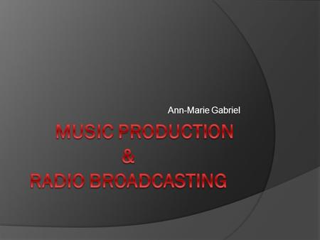 Ann-Marie Gabriel. What a Producer Does… A music producer is a professional who works with recording artists and bands, sound engineers, record labels.
