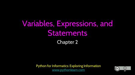 Variables, Expressions, and Statements
