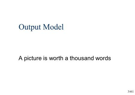 3461 Output Model A picture is worth a thousand words.