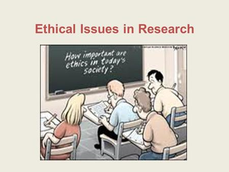 Ethical Issues in Research. Scientific misconduct is fabrication, falsification, or plagiarism in proposing, performing, or reviewing research, or in.