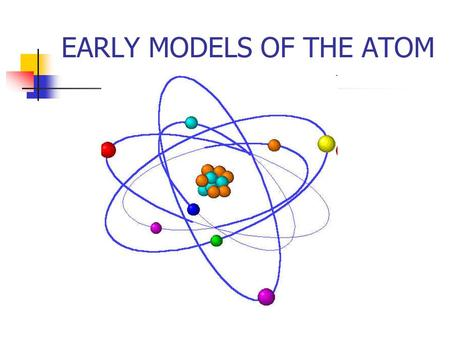 EARLY MODELS OF THE ATOM Models of Matter A model is a tentative description of a system or theory that accounts for all of its known properties Models.