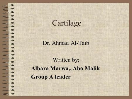 Dr. Ahmad Al-Taib Written by: Albara Marwa,, Abo Malik Group A leader