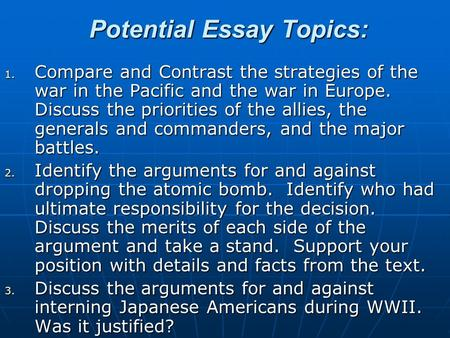Conflict in europe essay questions